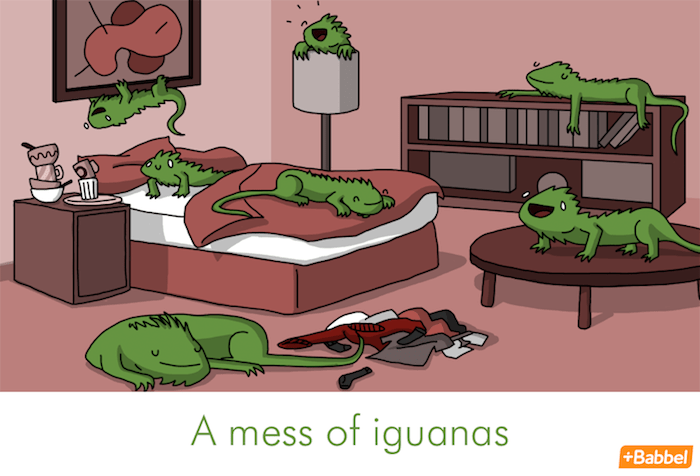 """A mess of iguanas"" - Illustration von James Chapman"