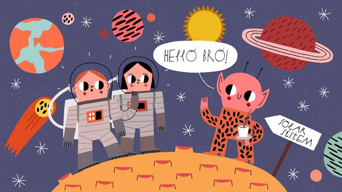 L'anglais sera-t-il bientôt parlé sur la lune?