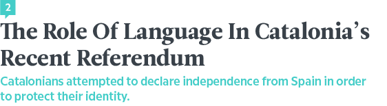 Language News In October 2017 — Catalan