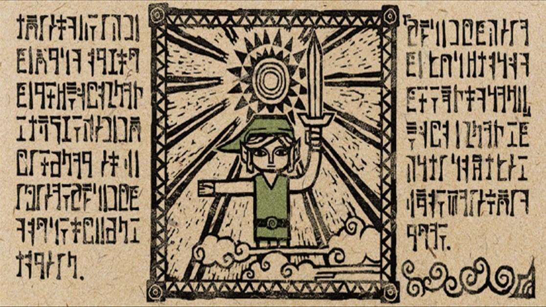 Video Game Languages — Legend of Zelda Written Language Example