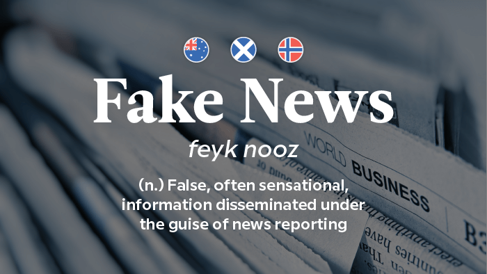 2017 Words Of The Year — Fake News