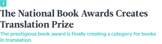 The National Book Awards Creates Translation Prize