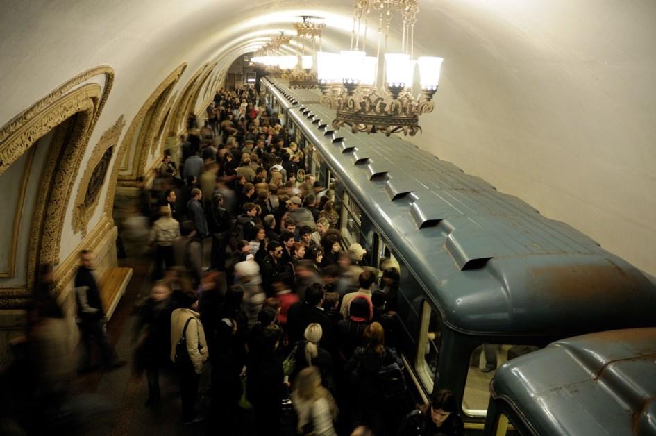 Le métro moscovite est l'un des plus emprunté