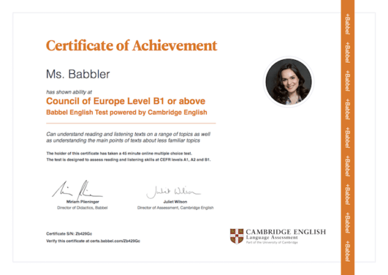 certificado cambridge english