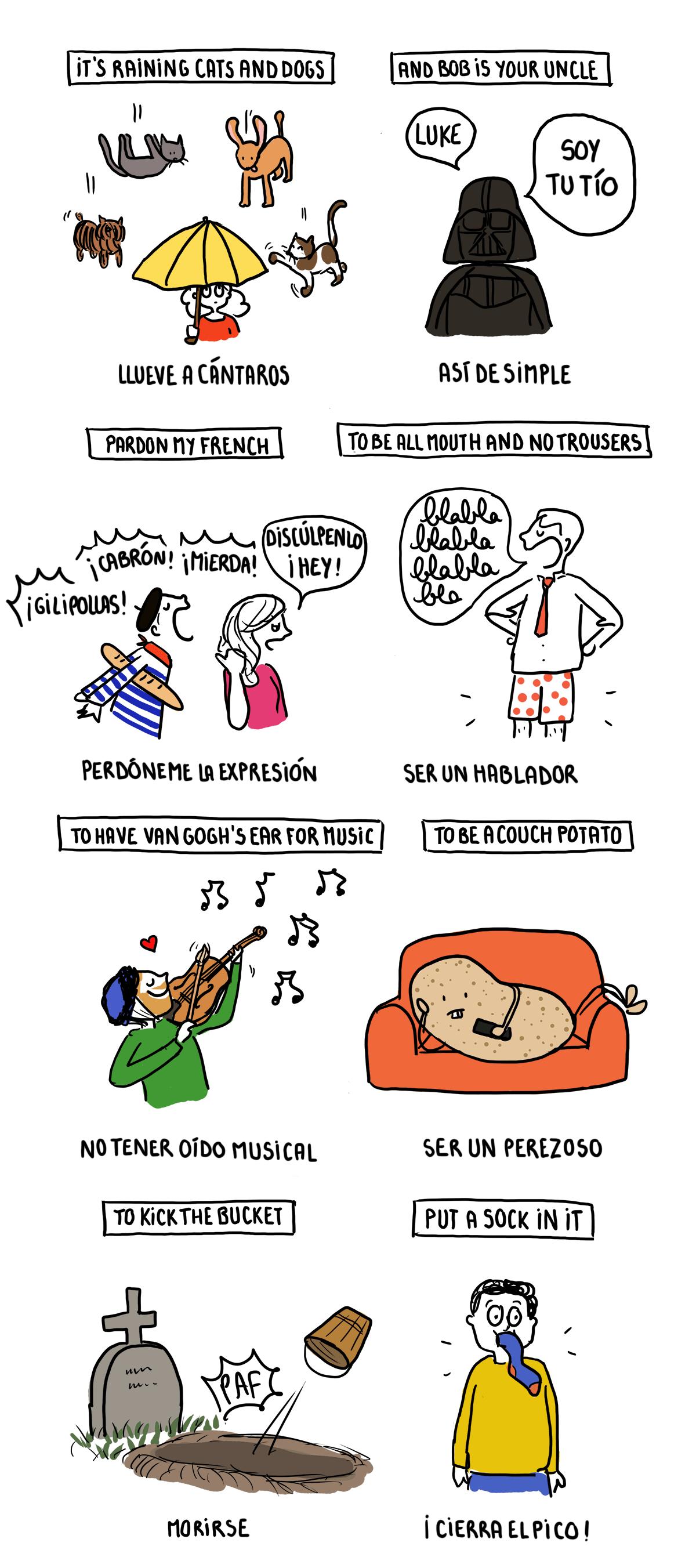 Expresiones ilustradas en inglés