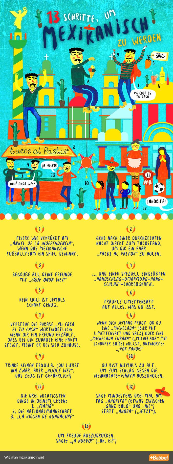 13 Schritte, um mexikanisch zu werden