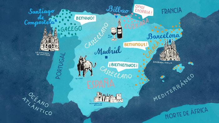 Welche Sprachen werden in Spanien gesprochen?