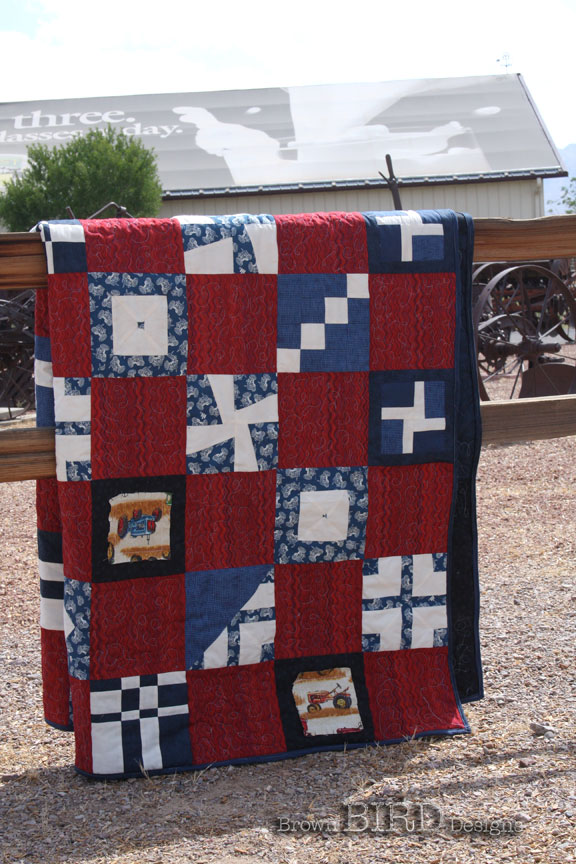 just part of Tractor Quilt #3