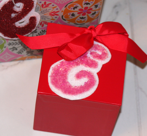 Monogram Gift Tags on gifts