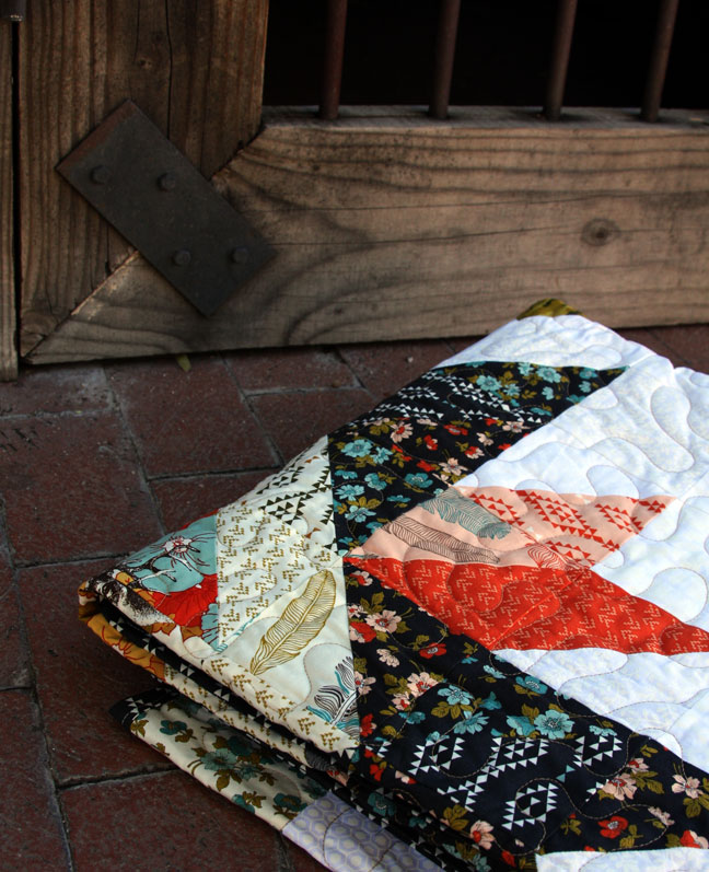 folded up quilt