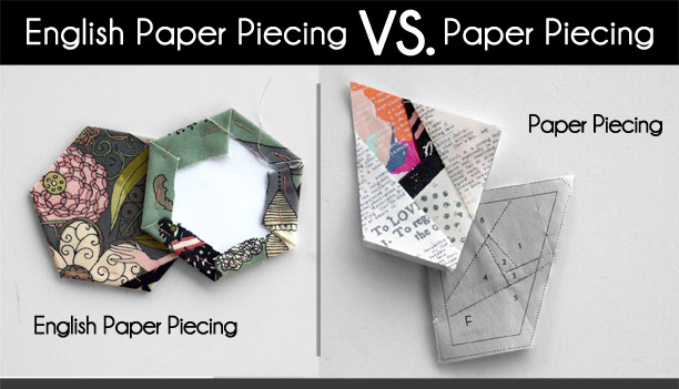 English Paper Piecing vs. Paper Piecing
