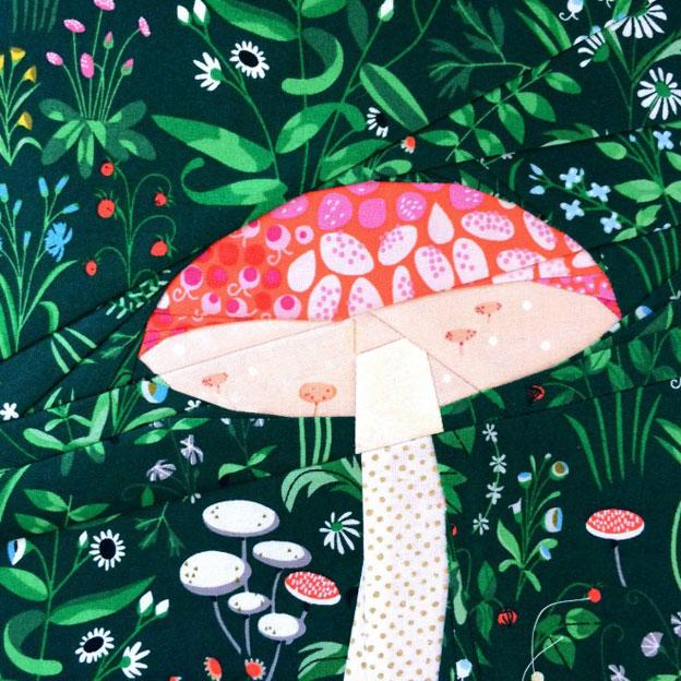 Mushroom Paper Piecing Pattern