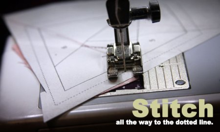 stitch to the dotted line