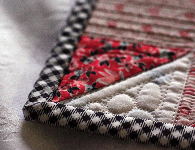 The Double Pinwheel Quilt Binding