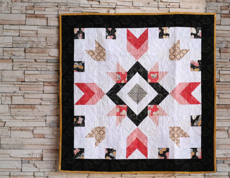 Garden Star Three full quilt