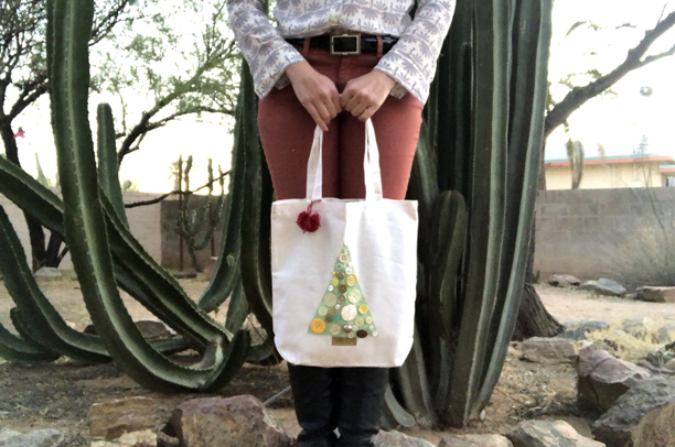 Quilty Jolts Challenge 2 tote bag