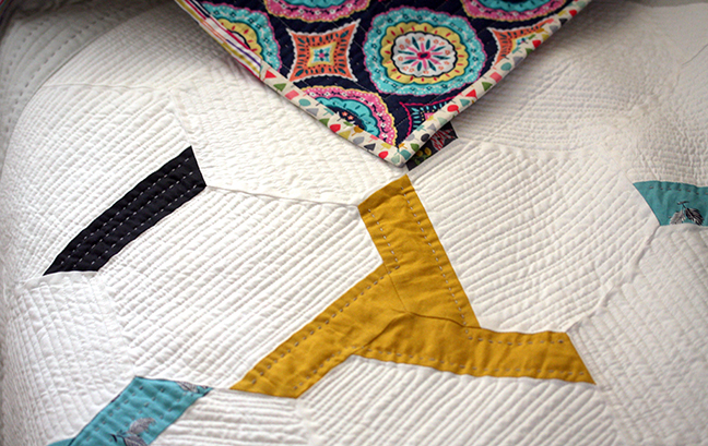 Match stick quilting