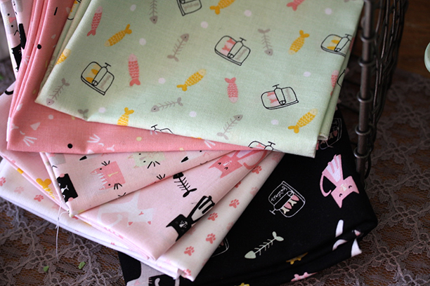 Meow and Forever Fabrics by My Minds Eye for Riley Blake Designs