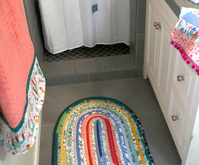 Dorothy's Journey Fabric used to decorate the bathroom