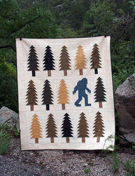 Legendary quilt with Lumberjack Aaron Fabric
