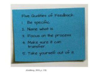Five Qualities of Feedback_ Goldberg Readers