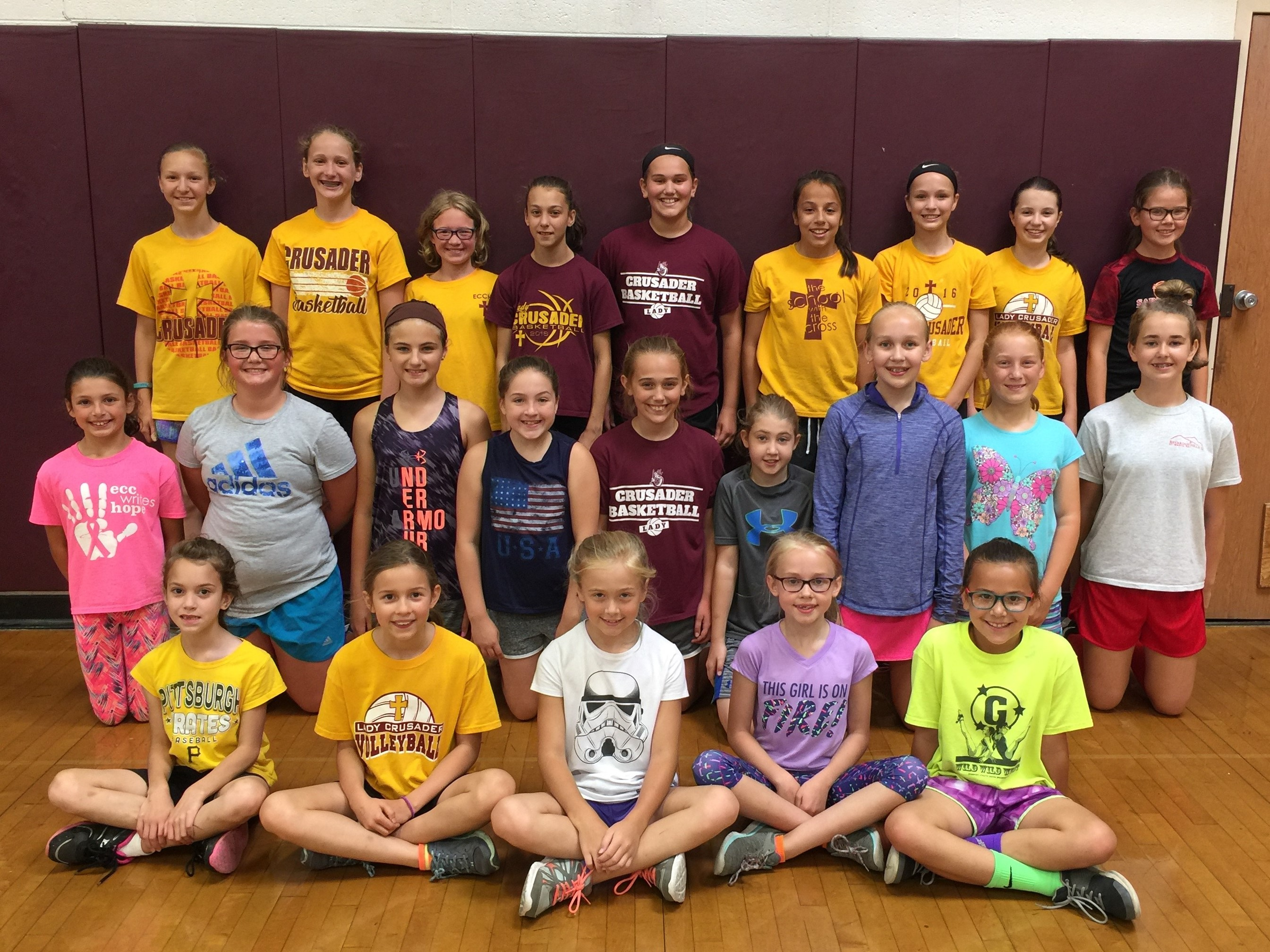 Little Spikers Volleyball Camp Held Recently Elk County Catholic School System