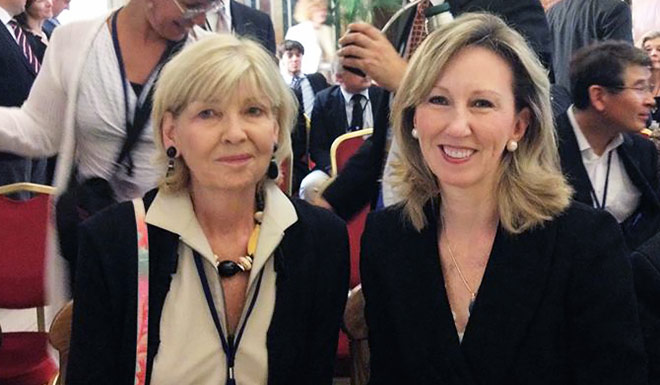 O'Beirne and Barbara Comstock in Rome