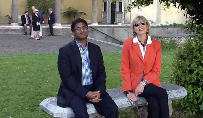 O'Beirne with Ramesh Ponnuru in Rome
