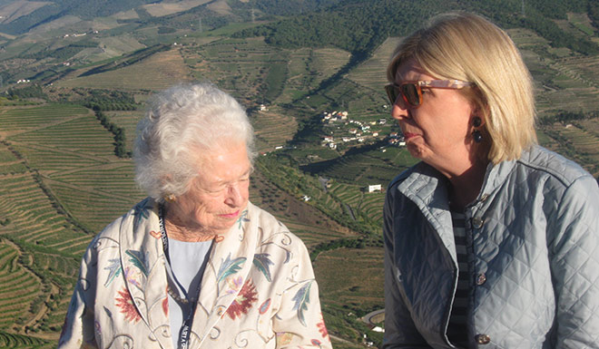 O'Beirne with Priscilla Buckley in Portugal