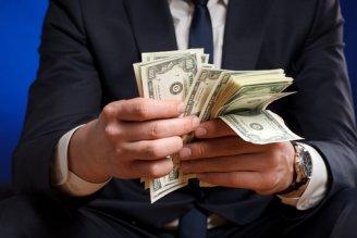 money in hands photo