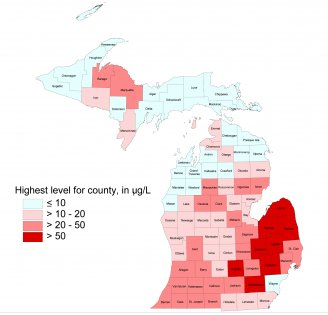 Michigan arsenic map photo
