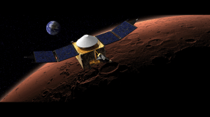 MAVEN over mars (NASA)