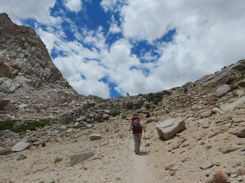A steep climb up to Lake #5