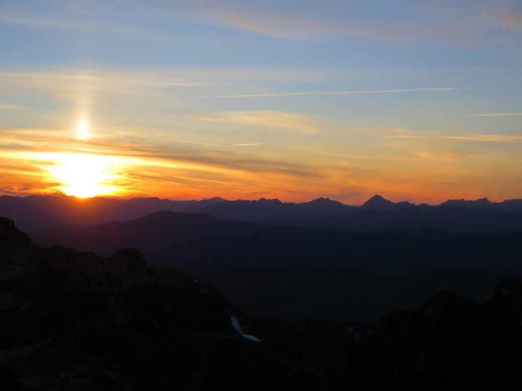 Sunset from our Tiffany Mountain camp... simply gorgeous! I ❤ the North Cascades!