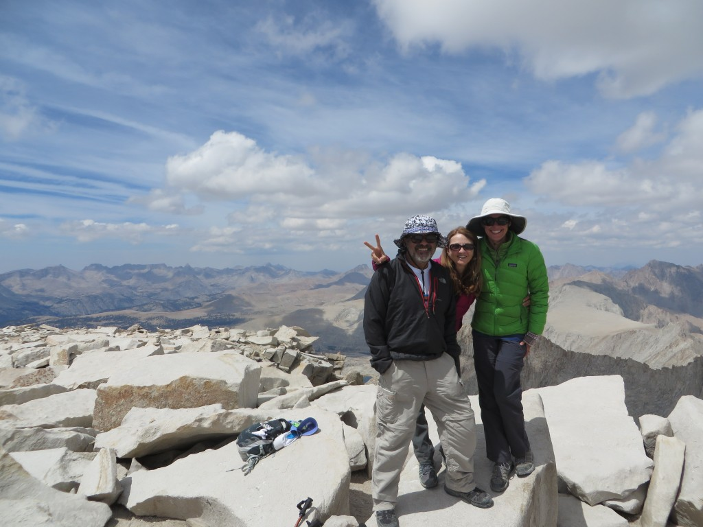Celebrating on the top of Mount Whitney with my dad and stepmom!