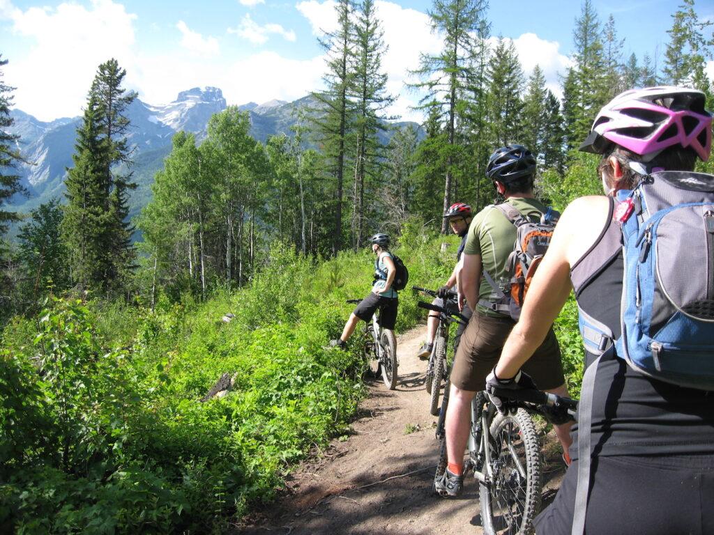 Riding bikes around the Canadian Rockies. Hella epic!