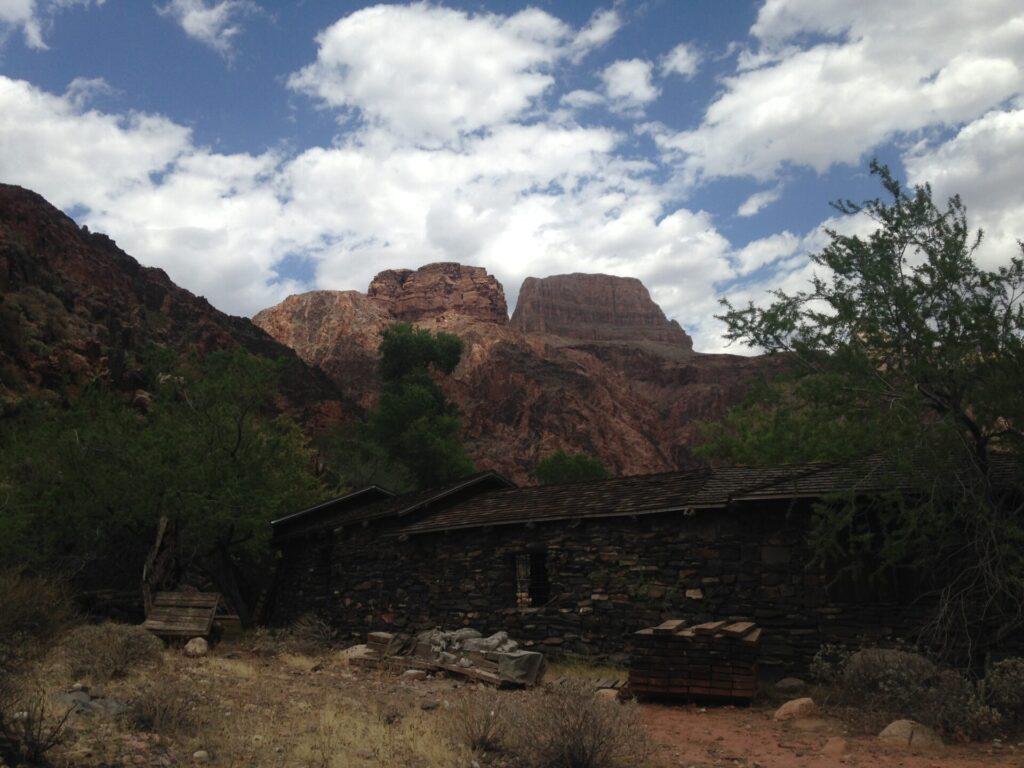 Leaving Phantom Ranch and beginning the tough climb up