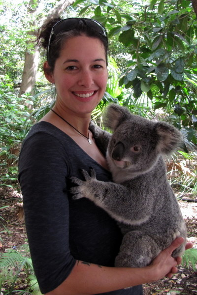 My koala cuddling moment