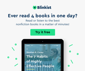 Blinkist -  Ever read 4 book in one day? Werbe Banner