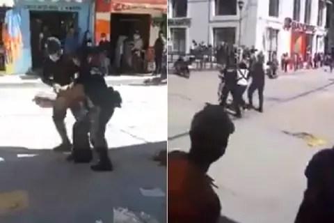 Detienen y tiran mercancía a vendedora de chapulines en Oaxaca