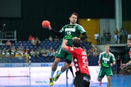 Yves Kunkel (15) - SC DHfK Leipzig vs. TV Hüttenberg - Foto: Rainer Justen