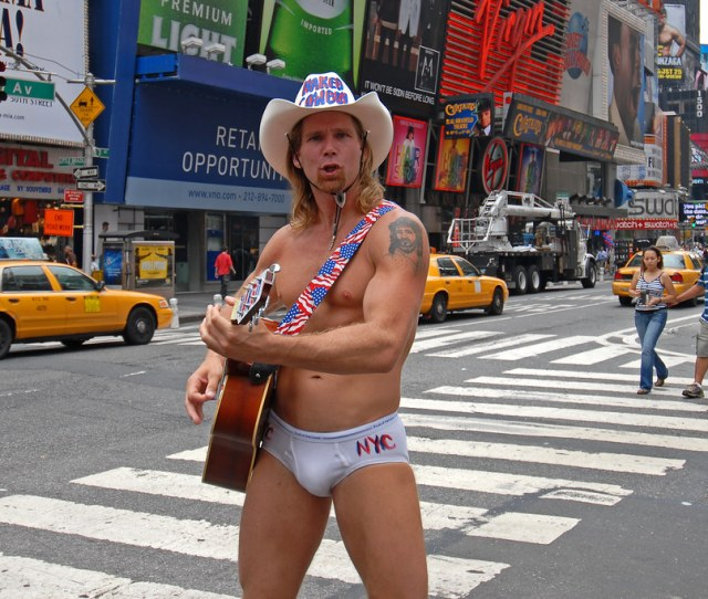 Naked Cowboy In Times Square New York City One Of The Att Flickr