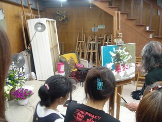 龐均畫室   龐老師示範畫靜物。   巧伶Chiao-Ling   Flickr