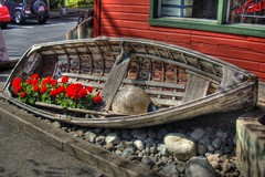 Boat with Flowers 1 HDR