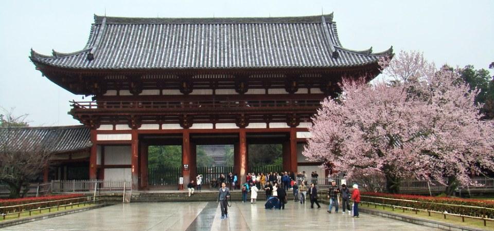 lado interior Puerta Nandaimon puerta sur Templo Todai-ji Nara Japon 13