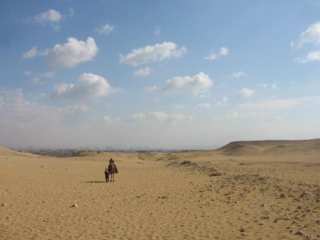 Desert and Cairo