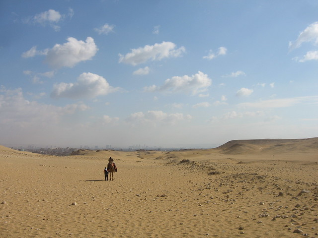 Desert and Cairo
