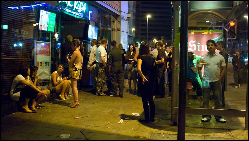 Sin outside Bar Risa
