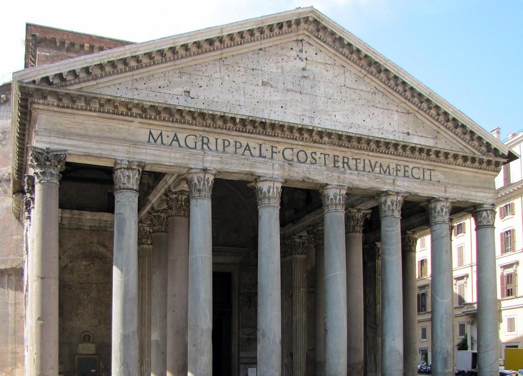 Pantheon Pediment And Frieze The Pantheon Rome C 125