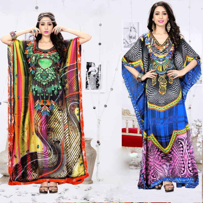 アラビック・ドレスの写真例。